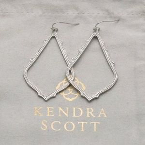 "Kendra Scott ""Sophia"" Silver  Open Drop Earrings"